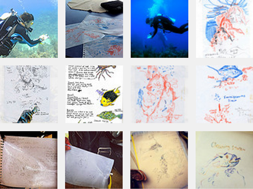 projects: underwater sketching