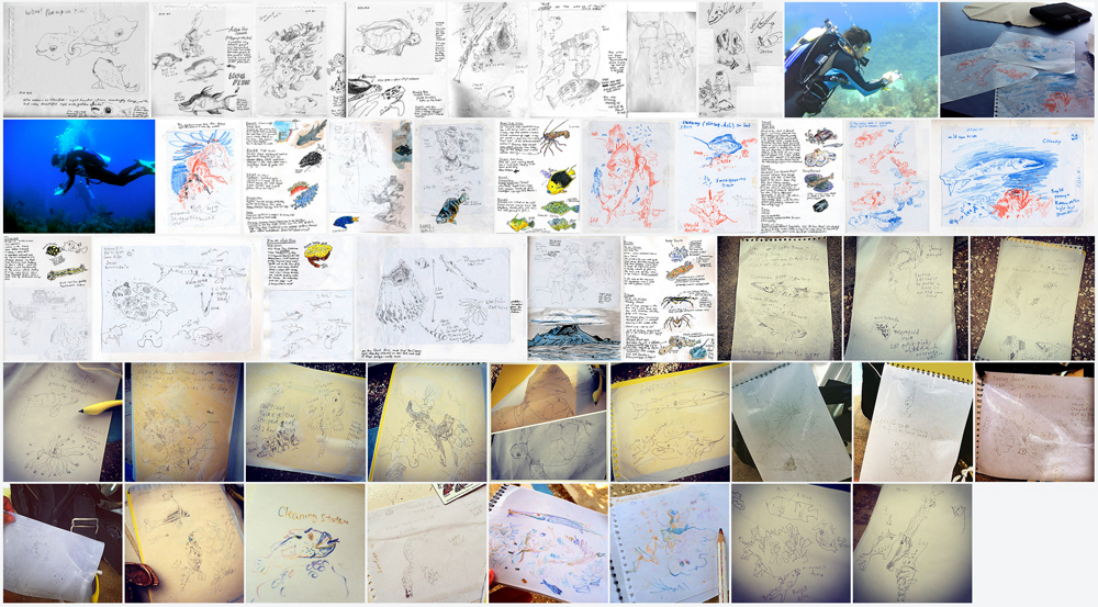 projects - scubadiving with a sketchbook